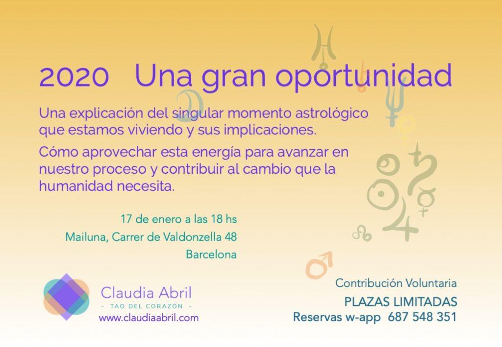 Claudia Abril Evento 2020 la gran oportunidad